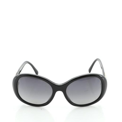 Chanel CC Turnlock Sunglasses with Quilted Leather