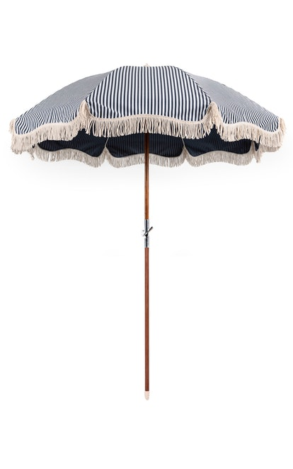 The Premium Beach Umbrella - Lauren's Navy Stripe