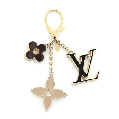 Louis Vuitton Fleur de Monogram Bag Charm Metal