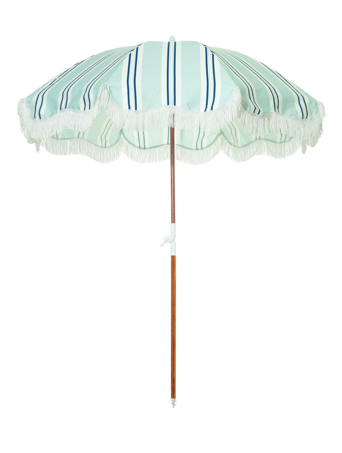 The Holiday Beach Umbrella - OKL Beach Stripe