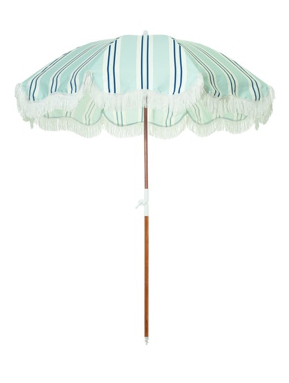 The Holiday Beach Umbrella - OKL Beach Stripe
