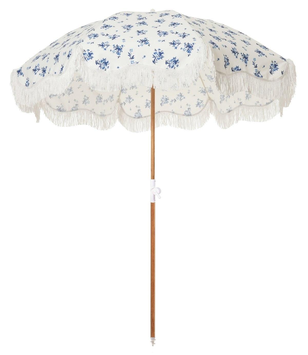 The Holiday Beach Umbrella - Stone Cold Fox Prairie