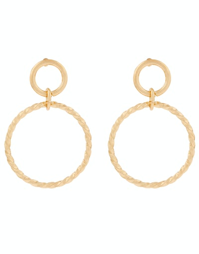 Accessorize Twisted Circle Drop Earrings