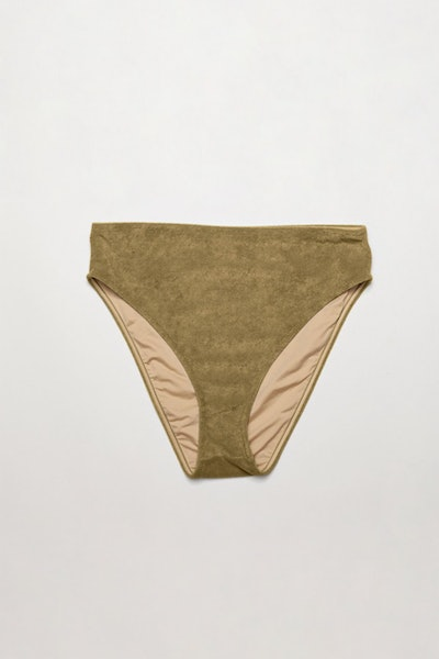 Towelling High-Waisted Brief
