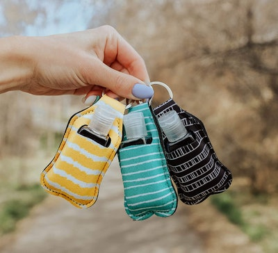 Zario Keychain Holder With Empty Travel Size Bottle (3-Pack)