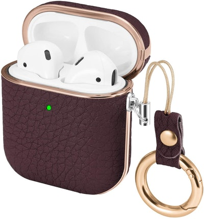 iHillon Leather AirPods Case