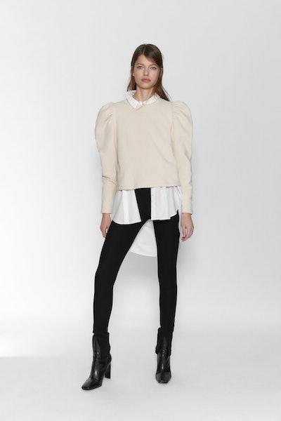 Zara Balloon Sleeve Sweatshirt