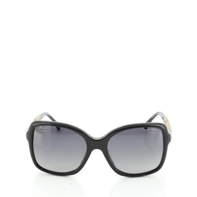 Chanel Square Sunglasses Crystal Embellished Acetate