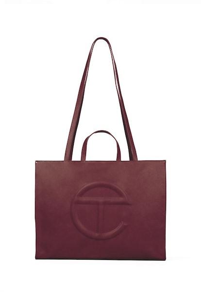 Large Oxblood Shopping Bag
