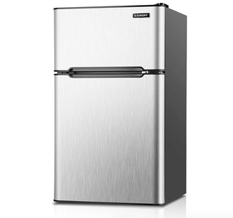 Euhomy Mini Fridge With Freezer
