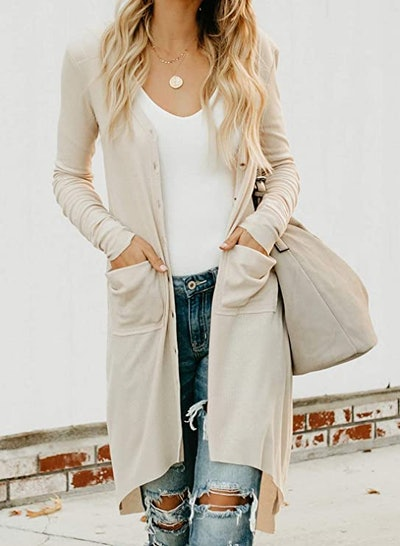 Sidefeel Knit Ribbed Duster