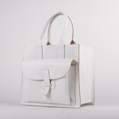 Sac 2 White Italian Leather