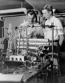 A young Luis Alvarez, right, in 1933. Five years later, he confirmed the existence of helium-3.