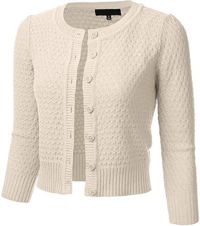 FLORIA Cropped Cardigan Sweater