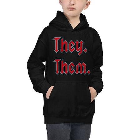 They. Them. Kids' Hoodie