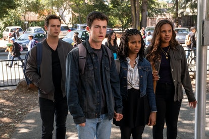 Justin, Clay, Ani, and Jess on 13 Reasons Why via the Netflix press site