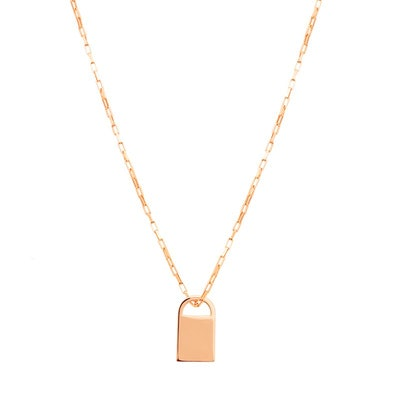 Boyfriend Padlock Necklace in Rose Gold