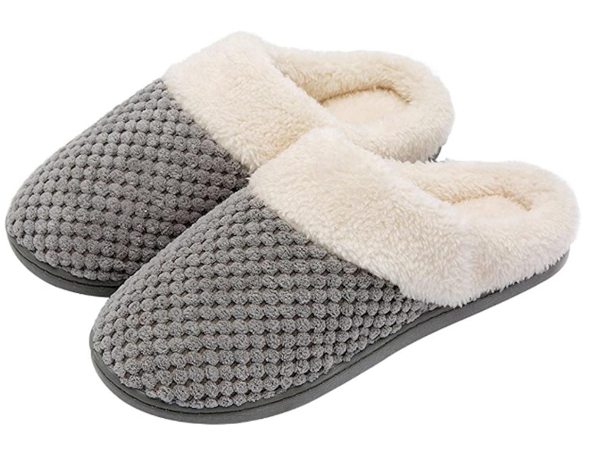 Ultra Ideas Women's Comfort Coral Fleece Memory Foam Slipper