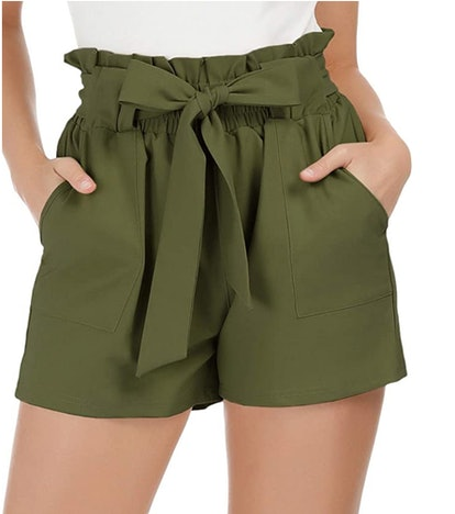 Grace Karin Bowknot Tie Waist Shorts