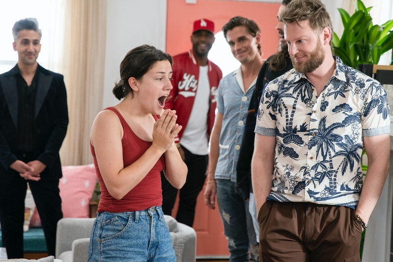 Tan France, Karamo Brown, Antoni Porowski, Jonathan Van Ness, Bobby Berk, and Abby Leady on 'Queer Eye' Season 5