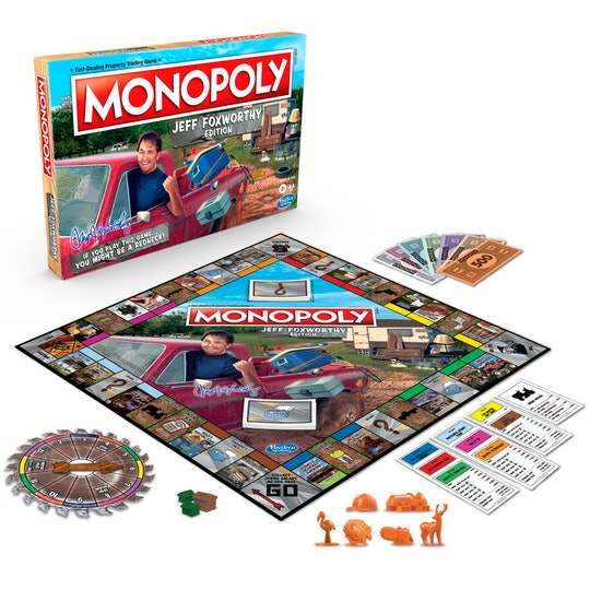 Monopoly Jeff Foxworthy Edition is here with tons of laughs for your next family game night.