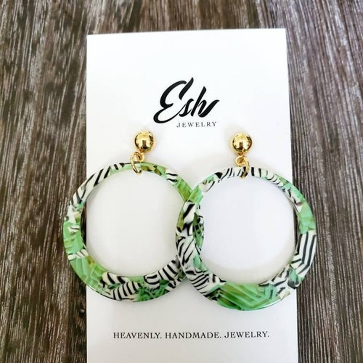 Esh Jewelry Collection Tropical Hoop Earrings
