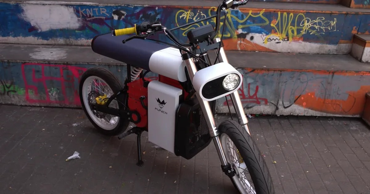 The Punch Moto is an electric motorcycle for Marxists who read 'Us Weekly'