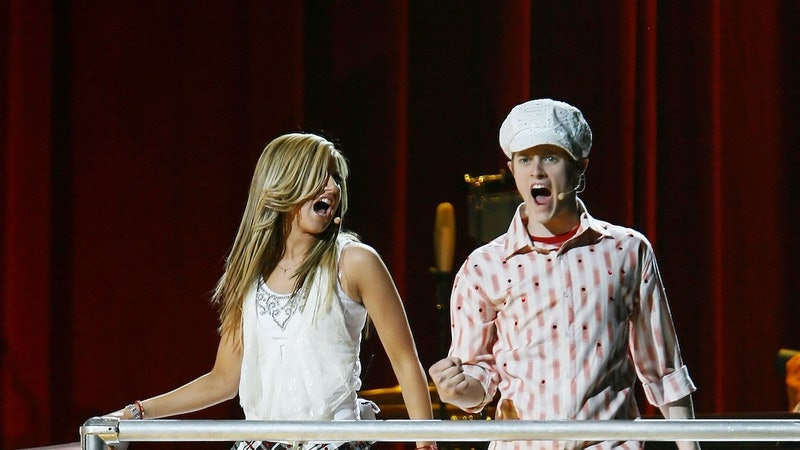 Ashley Tisdale and Lucas Grabeel as Sharpay and Ryan Evans in 'High School Musical'