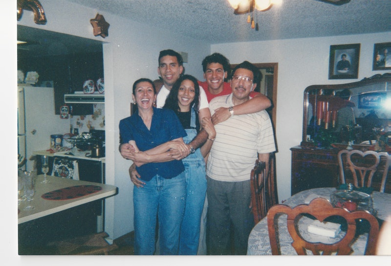 Rey Rivera and his family in Netflix's Unsolved Mysteries, via Netflix press site.