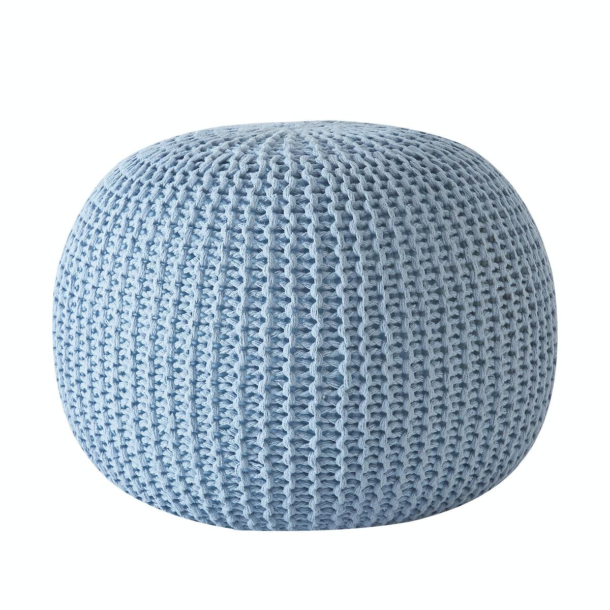Round Knit Pouf