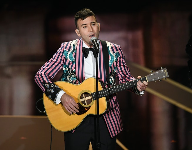 Recording artist Sufjan Stevens performs onstage during the 90th Annual Academy Awards at the Dolby Theatre at Hollywood & Highland Center on March 4, 2018 in Hollywood, California.