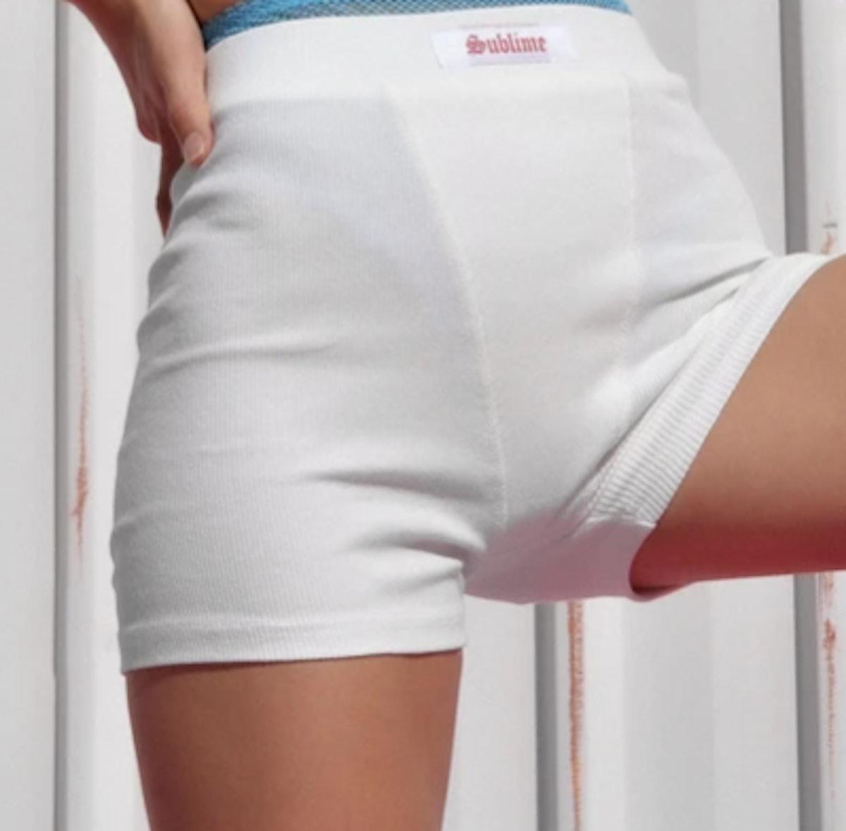 Sublime Biker Shorts - WHITE