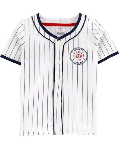 Baseball Button-Front Shirt