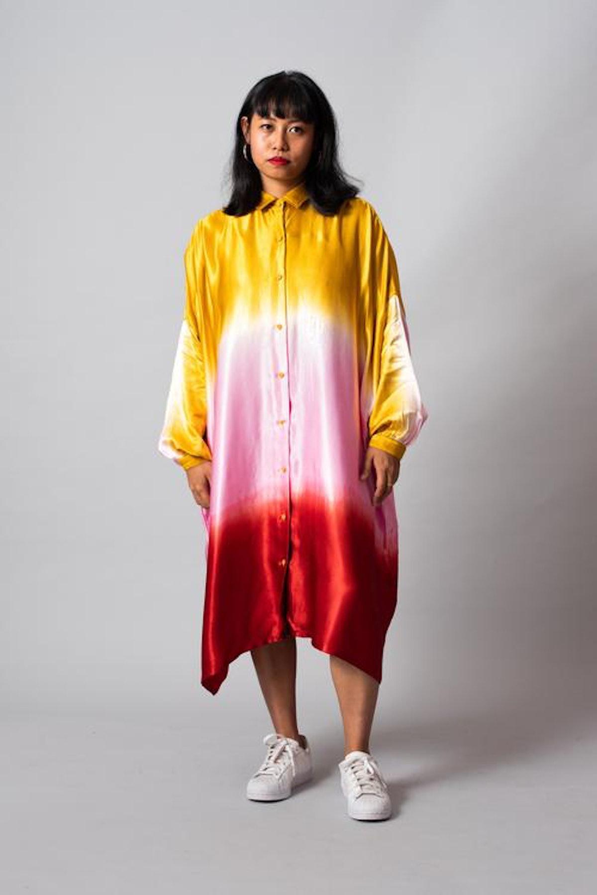 Banana Split Sundae Square Shirt Dress