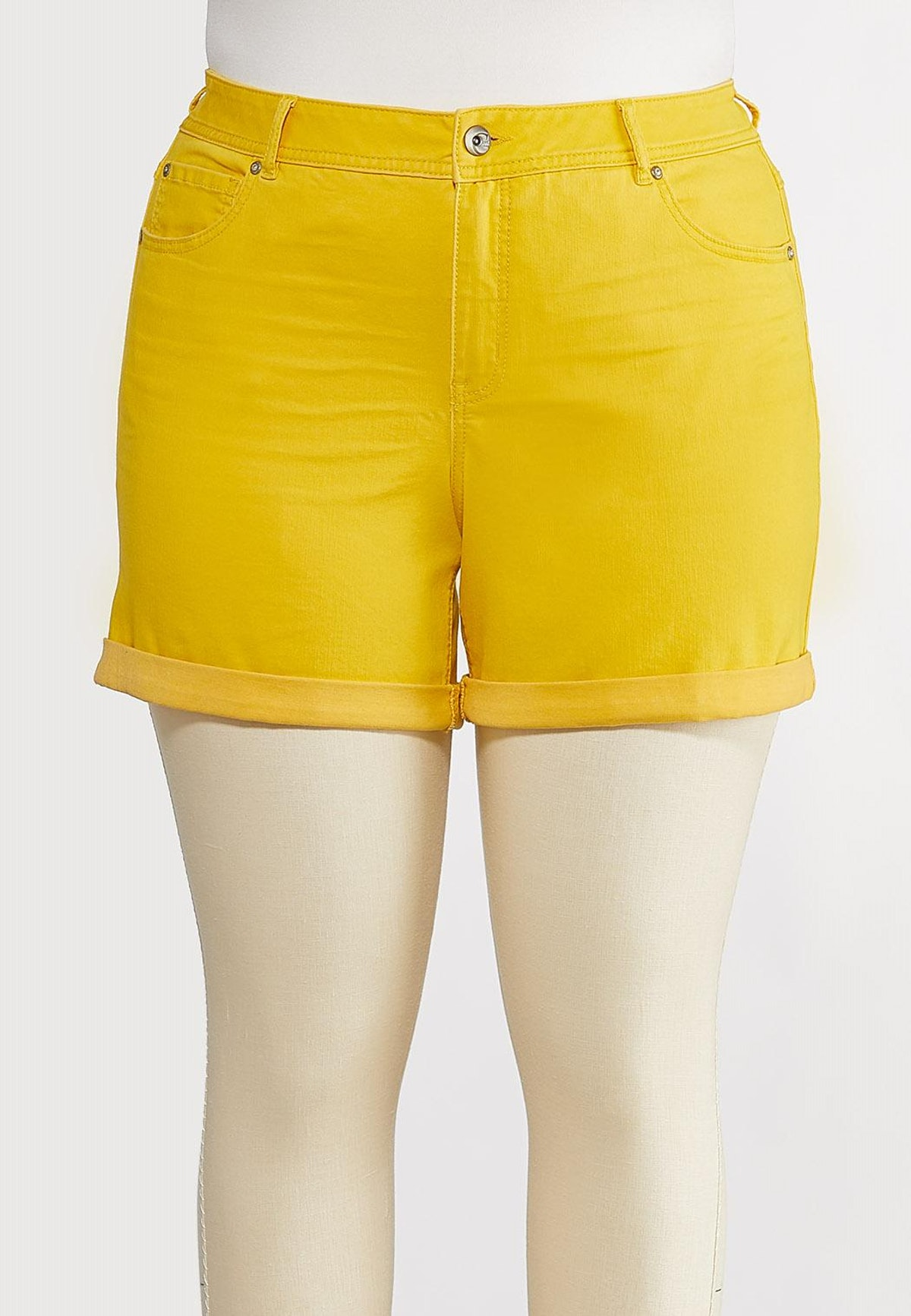 Cato Fashions Plus Size Colored Denim Shorts