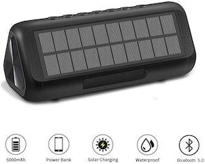 ColorFODA Solar Bluetooth Speakers
