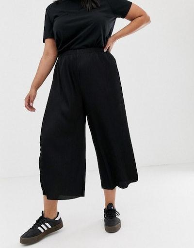 Curve Plisse Culotte Pants