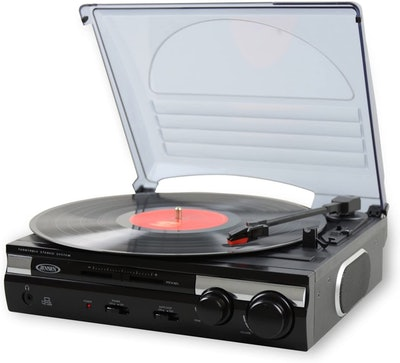 Jensen JTA-230 Stereo Turntable With Built in Speakers