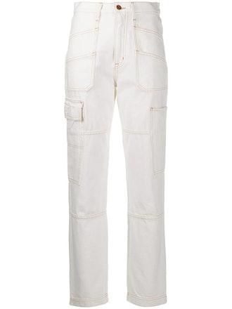 High-rise pocket-detail jeans
