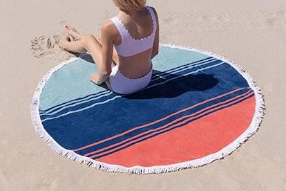 Laguna Beach Textile Company Round Cabana Beach Towel