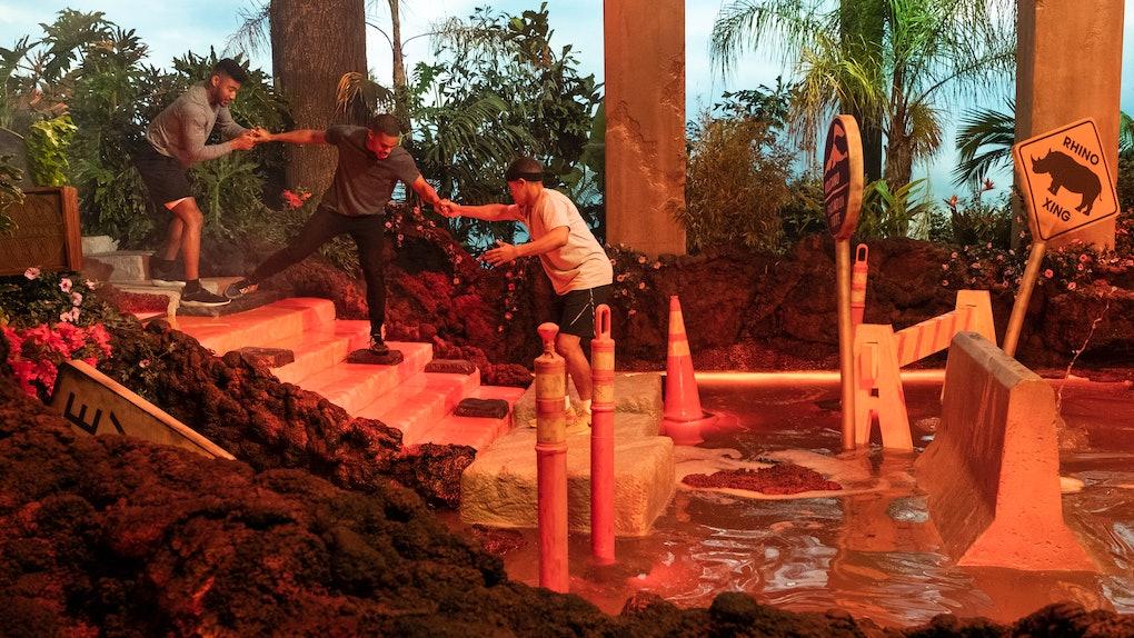 A team on Netflix's 'Floor Is Lava'