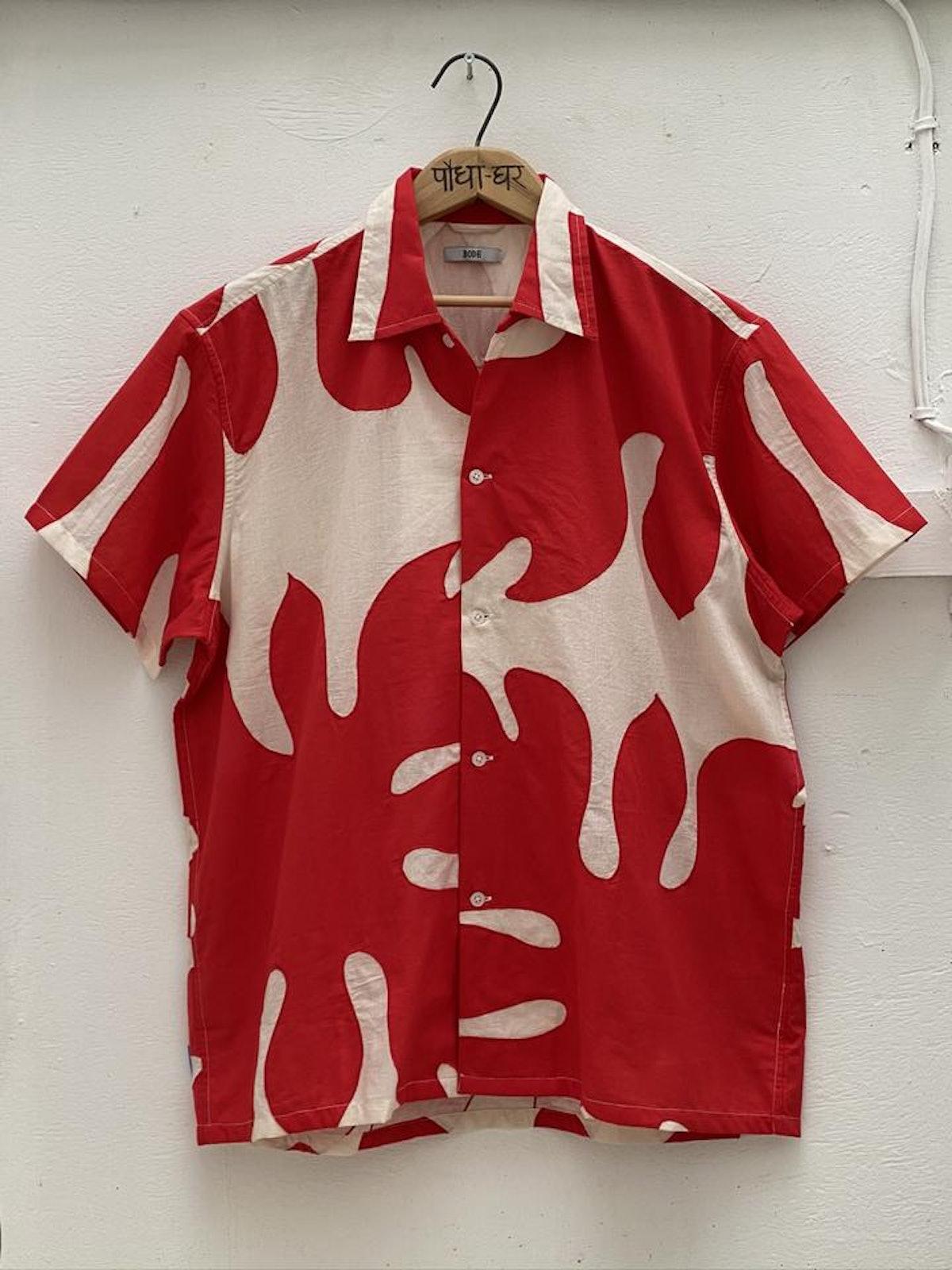 Cut-Out Appliqué Shirt