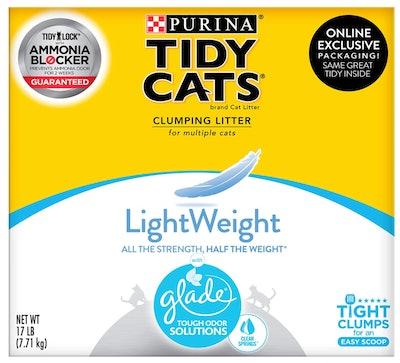 Purina Tidy Cats LightWeight Glade Clumping Cat Litter  (17 Pounds)