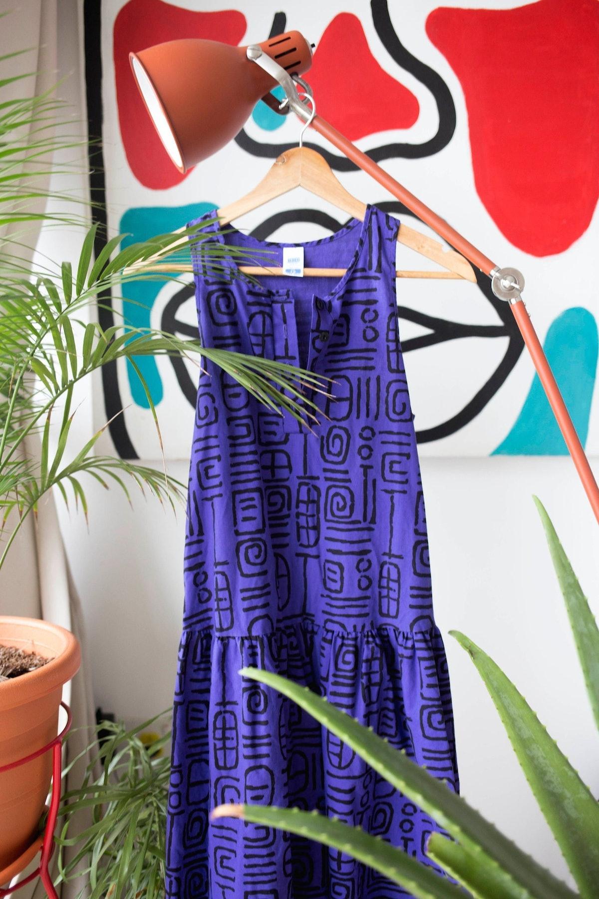 Thriftionary Kuba Cloth Dress