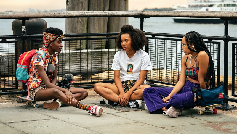 """Moonbear, Ardelia """"Dede"""" Lovelace, and Ajani Russell in 'Betty' Season 1 from HBO media site"""
