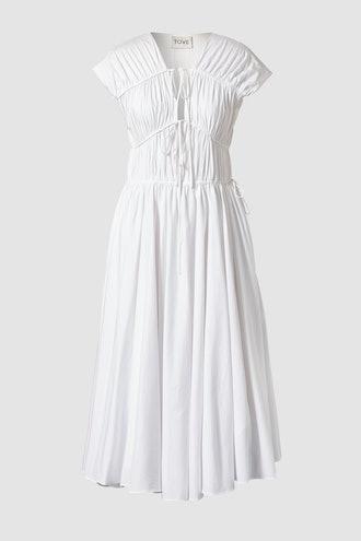 Ceres Organic Cotton Midi Dress White