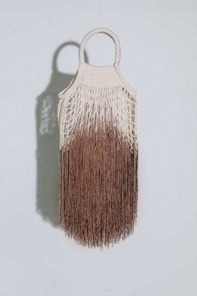 Petit Kouraj Ombre-Tan Mini Fringe Bag