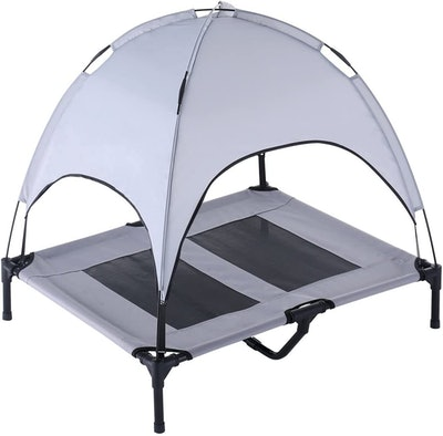 Superjare Elevated Pet Cot With Canopy
