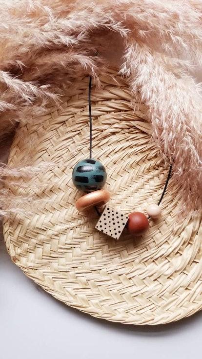 R-KI-TEKT Sala Large Wooden Beaded Adjustable Necklace