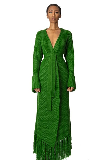 Hanifa Maya Knit Cardigan Dress